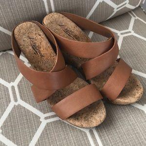 Lucky Brand 🍀 Cork Wedge Sandals